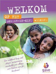 Moeder-en-Kindweekend flyer
