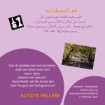 Auto's tellen! Activiteitenkaartje Nederlands - Arabisch