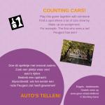 Auto's tellen! Activiteitenkaartje Nederlands - Engels