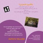 Auto's tellen! Activiteitenkaartje Nederlands - Farsi