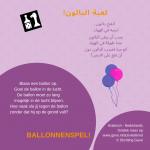 Activiteitenkaartje Ballonnenspel NE - Arabisch