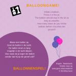 Activiteitenkaartje Ballonnenspel NE - Engels