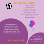 Activiteitenkaartje Ballonnenspel NE - Frans