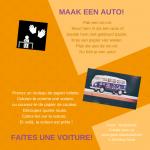 Activiteitenkaartje Maak een auto Ne - Frans