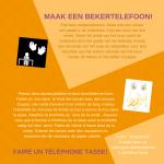 Activiteitenkaartje Maak een bekertelefoon Nederlands-Frans