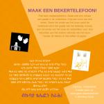 Activiteitenkaartje Maak een bekertelefoon Nederlands-Tigrinya