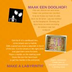 Activiteitenkaartje Maak een doolhof Nederlands - Engels