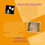 Activiteitenkaartje Maak een doolhof Nederlands - Frans