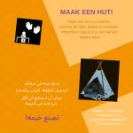 Activiteitenkaartje Maak een hut! Nederlands - Arabisch