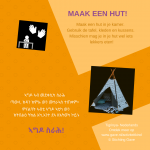 Activiteitenkaartje Maak een hut! Nederlands - Tigrinya