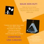 Activiteitenkaartje Maak een hut! Nederlands - Frans
