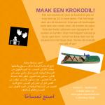 Activiteitenkaartje Maak een krokodil Nederlands - Arabisch