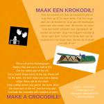 Activiteitenkaartje Maak een krokodil Nederlands - Engels