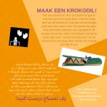 Activiteitenkaartje Maak een krokodil Nederlands - Farsi