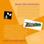 Activiteitenkaartje Maak een krokodil Nederlands - Frans
