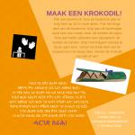 Activiteitenkaartje Maak een krokodil Nederlands - Tigrinya