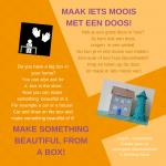 Activiteitenkaartje Maak iets moois met een doos! Ne - Engels