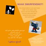 Activiteitenkaartje Maak smurfensnot! Ne-Arabisch