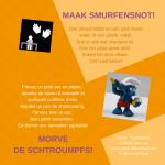 Activiteitenkaartje Maak smurfensnot! Ne-Frans