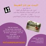 Activiteitenkaartje Natuurspeurtocht Nederlands - Arabisch