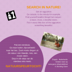 Activiteitenkaartje Natuurspeurtocht Nederlands - Engels