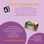 Activiteitenkaartje Natuurspeurtocht Nederlands - Frans