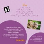 Activiteitenkaartje Spiegel! Nederlands- Arabisch