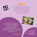 Activiteitenkaartje Spiegel! Nederlands- Engels