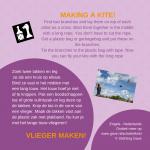 Activiteitenkaartje Vlieger maken! Nederlands - Engels