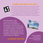 Activiteitenkaartje Vlieger maken! Nederlands - Frans