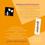 Activiteitenkaartje Windhanger maken Nederlands - Arabisch