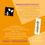 Activiteitenkaartje Windhanger maken Nederlands - Engels